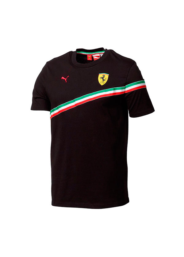 4ca3eeeb64 RecalviSport | Camiseta Ferrari Bandera Italia. Color negro