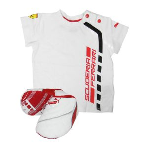 c498193d6fee1 Conjunto Camiseta + Zapatillas Scuderia Ferrari Junior