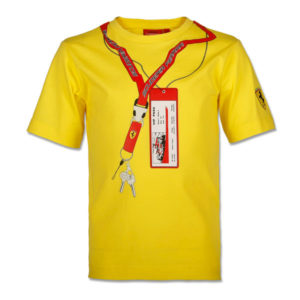 97ddf8b2dc1e6 Camiseta Scuderia Ferrari Ticket   Keys. Color Amarillo