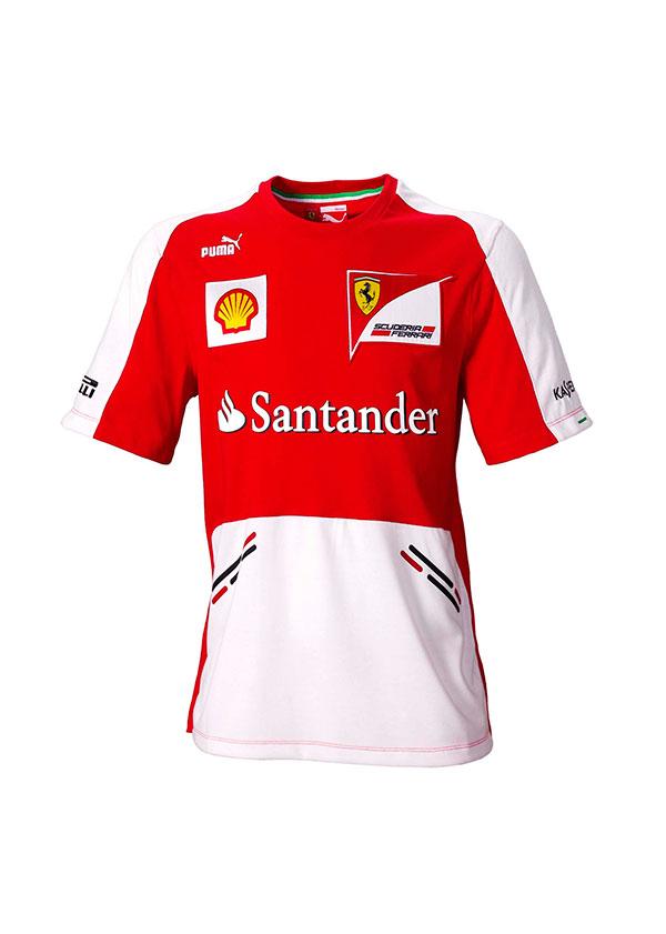 Camiseta Réplica Scuderia Ferrari Team F1 2013 Junior – RecalviSport d3eae72512414